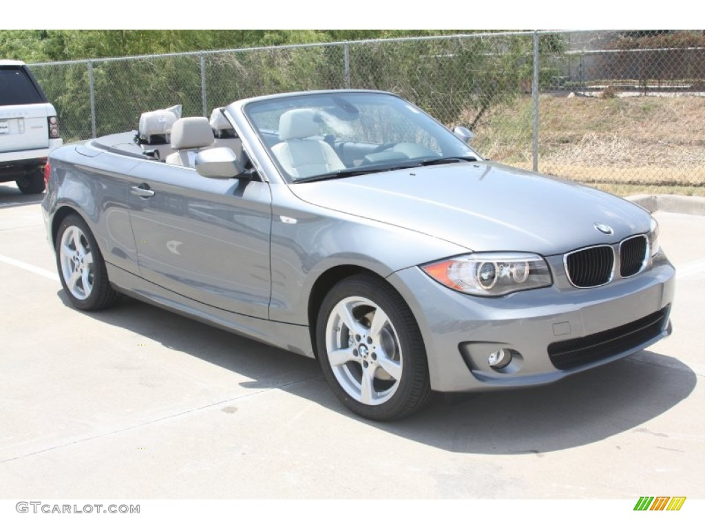 Space Grey Metallic 2012 Bmw 1 Series 128i Convertible