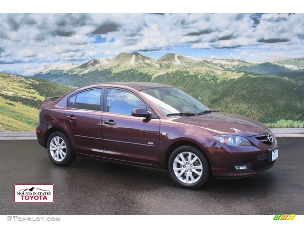 2008 Phantom Purple Mica Mazda Mazda3 S Sport Sedan