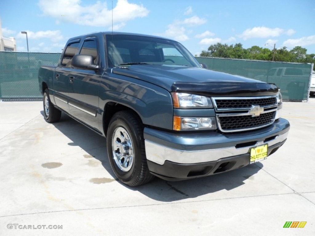 2006 blue granite metallic chevrolet silverado 1500 ls crew cab 53005310 car. Black Bedroom Furniture Sets. Home Design Ideas