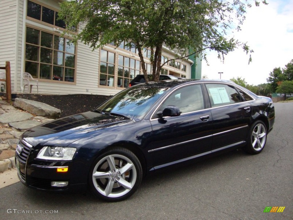 night blue pearl effect 2009 audi a8 l 4 2 quattro exterior photo 53061695. Black Bedroom Furniture Sets. Home Design Ideas