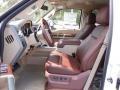 2012 White Platinum Metallic Tri-Coat Ford F250 Super Duty King Ranch Crew Cab 4x4  photo #5