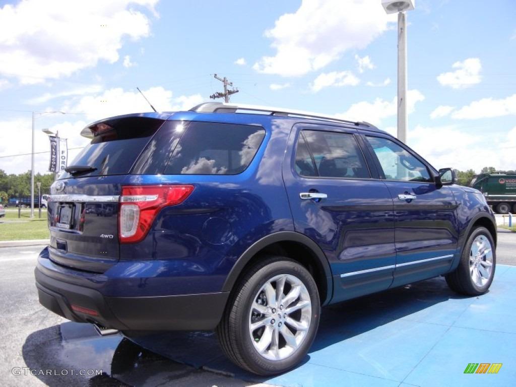 dark pearl blue metallic 2012 ford explorer xlt 4wd exterior photo 53066377. Black Bedroom Furniture Sets. Home Design Ideas