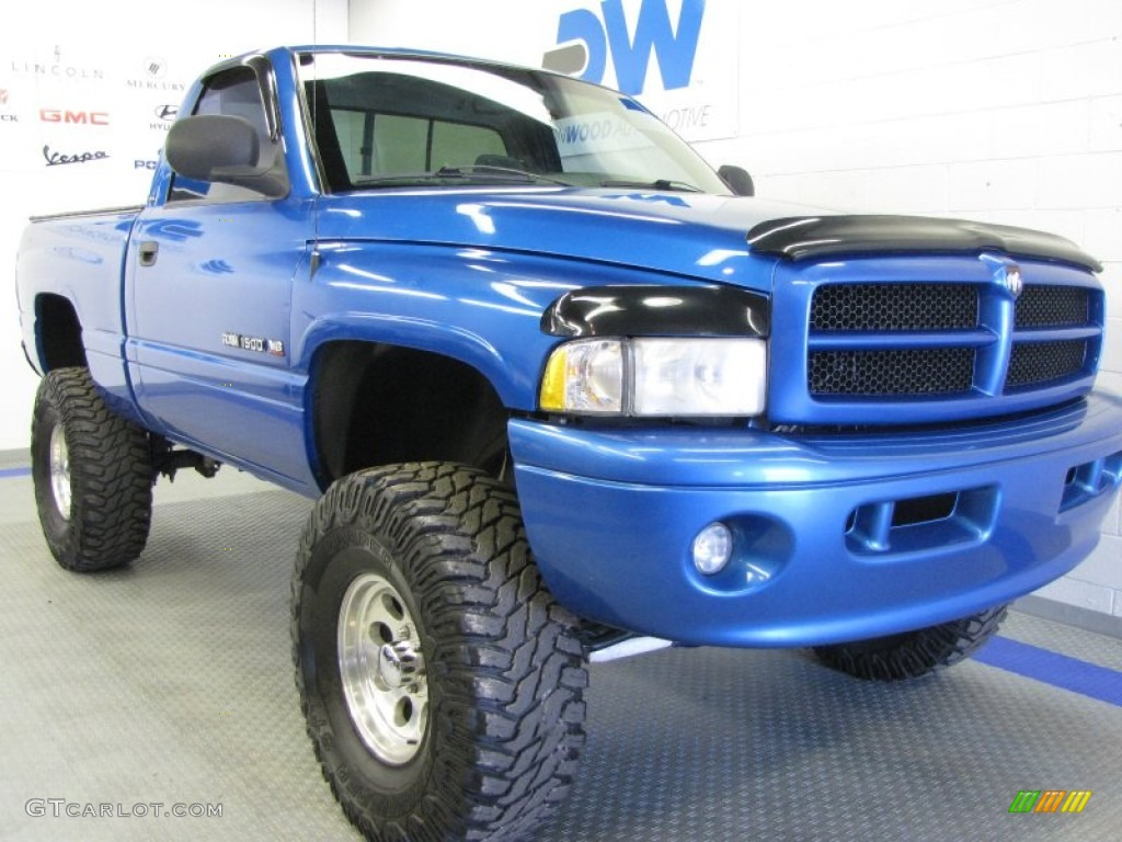 2001 intense blue pearl dodge ram 1500 sport regular cab 4x4 53064362 car. Black Bedroom Furniture Sets. Home Design Ideas
