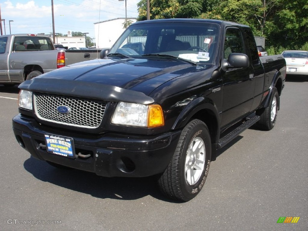 2002 black clearcoat ford ranger edge supercab 4x4 53063879 car color galleries. Black Bedroom Furniture Sets. Home Design Ideas