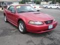 2001 Laser Red Metallic Ford Mustang V6 Convertible  photo #3