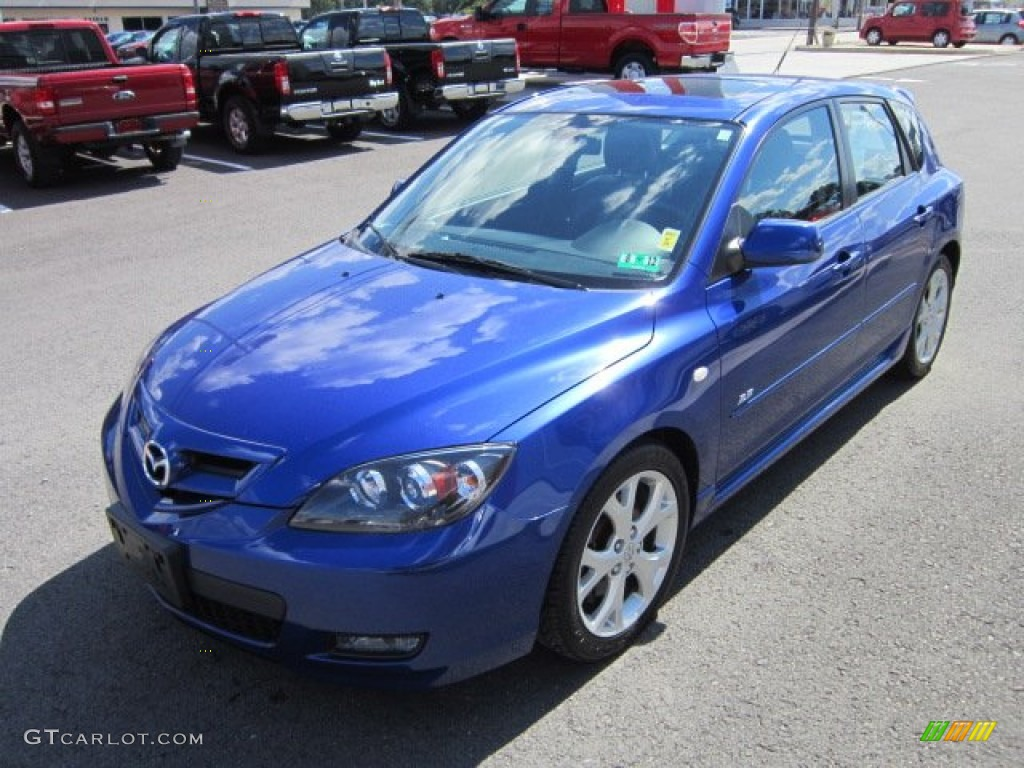 aurora blue mica 2007 mazda mazda3 s grand touring hatchback exterior photo 53112050. Black Bedroom Furniture Sets. Home Design Ideas