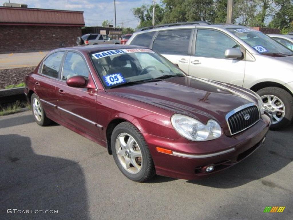 2005 Ruby Red Hyundai Sonata Gls V6 53117073 Gtcarlot