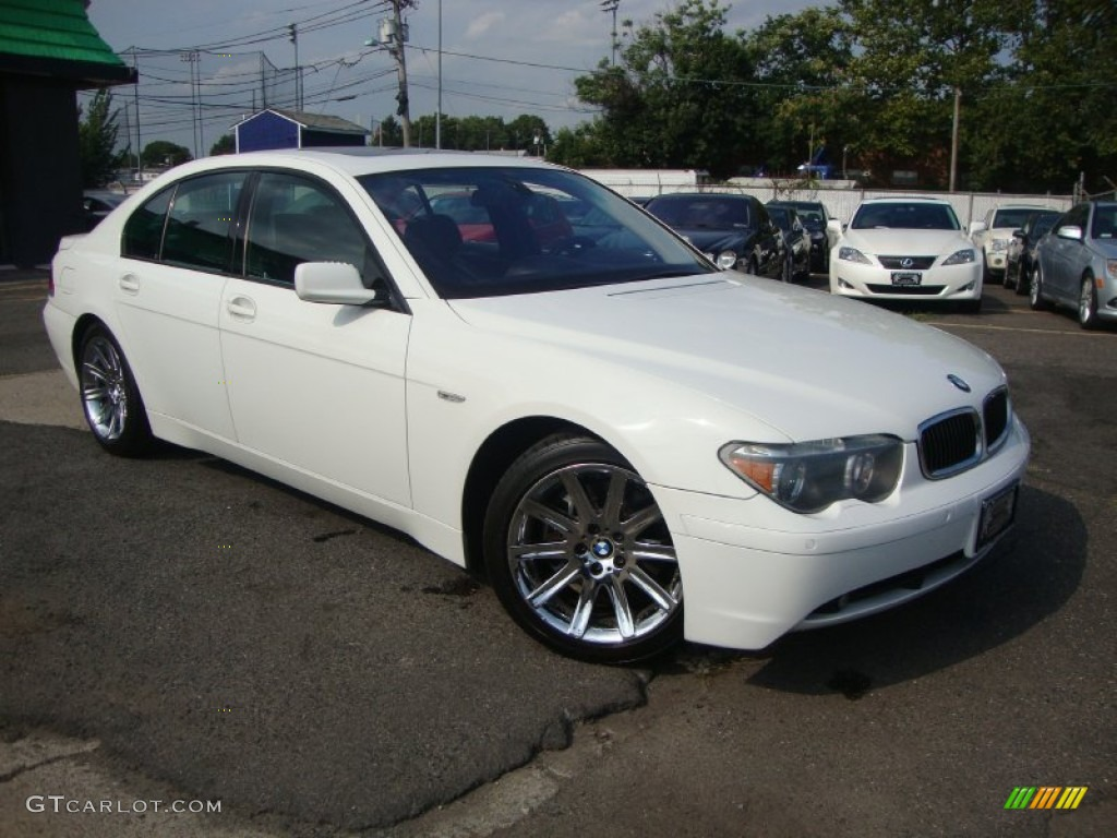 Alpine White 2004 BMW 7 Series 745i Sedan Exterior Photo 53130517
