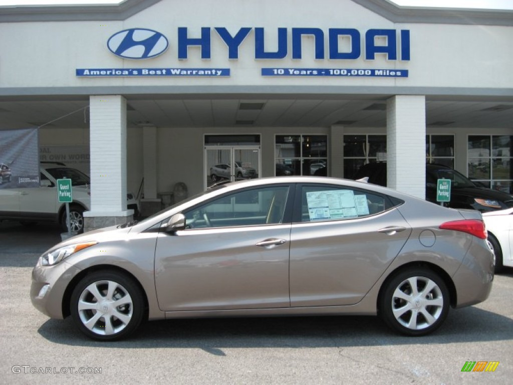 2012 Desert Bronze Hyundai Elantra Limited 53117228 Gtcarlot Com Car Color Galleries