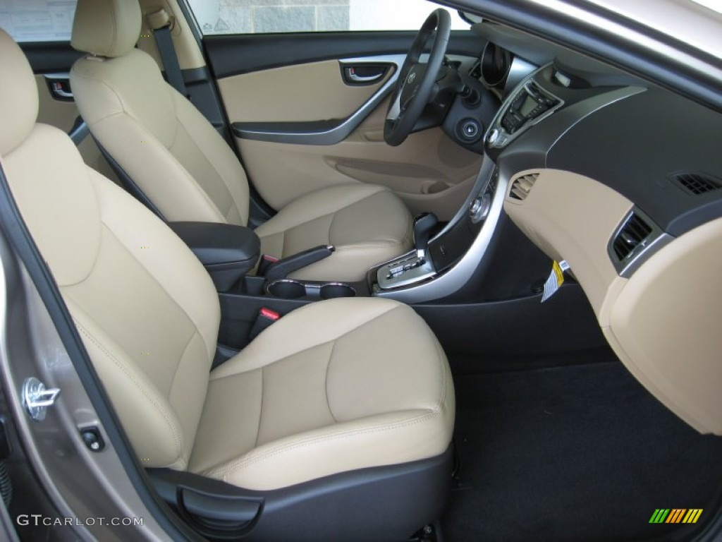Beige Interior 2012 Hyundai Elantra Limited Photo 53134237