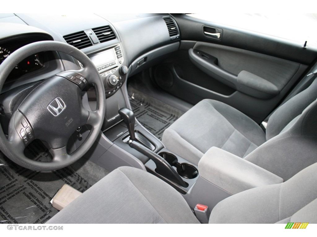 Gray Interior 2007 Honda Accord LX V6 Sedan Photo #53136130