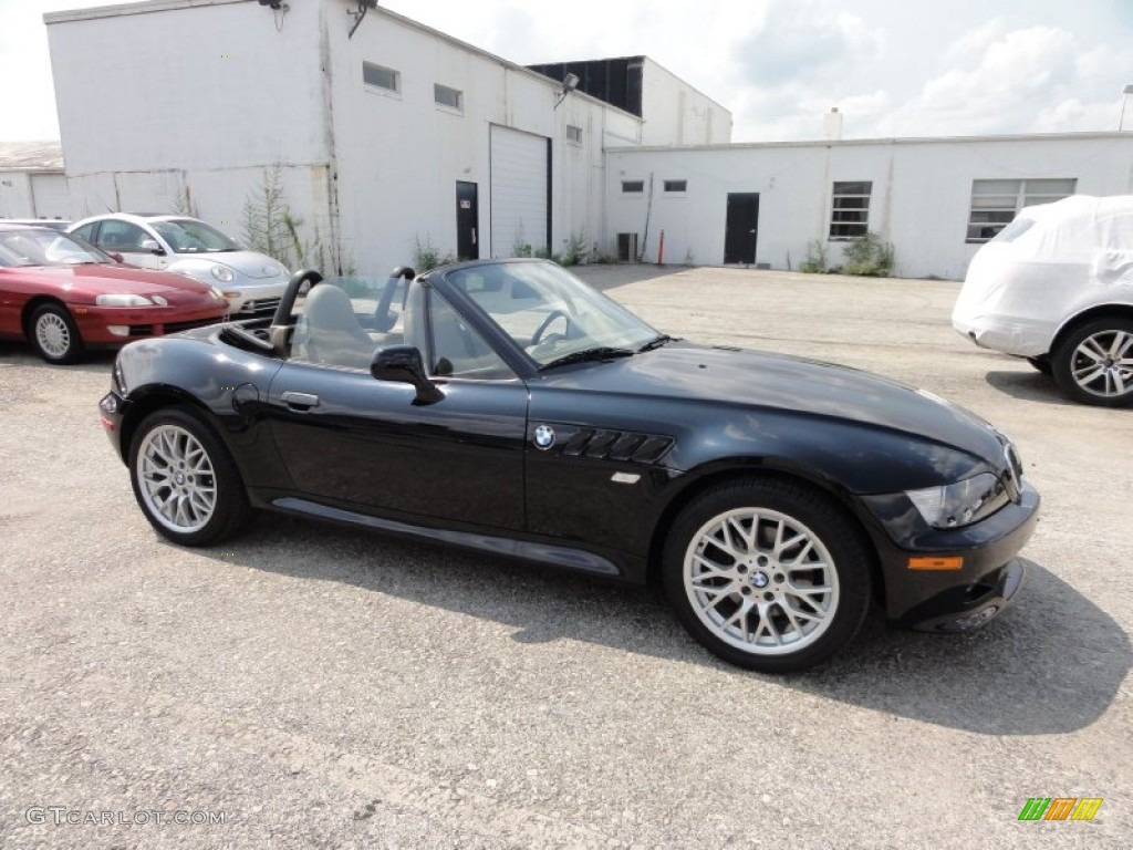 Jet Black 2002 Bmw Z3 3 0i Roadster Exterior Photo