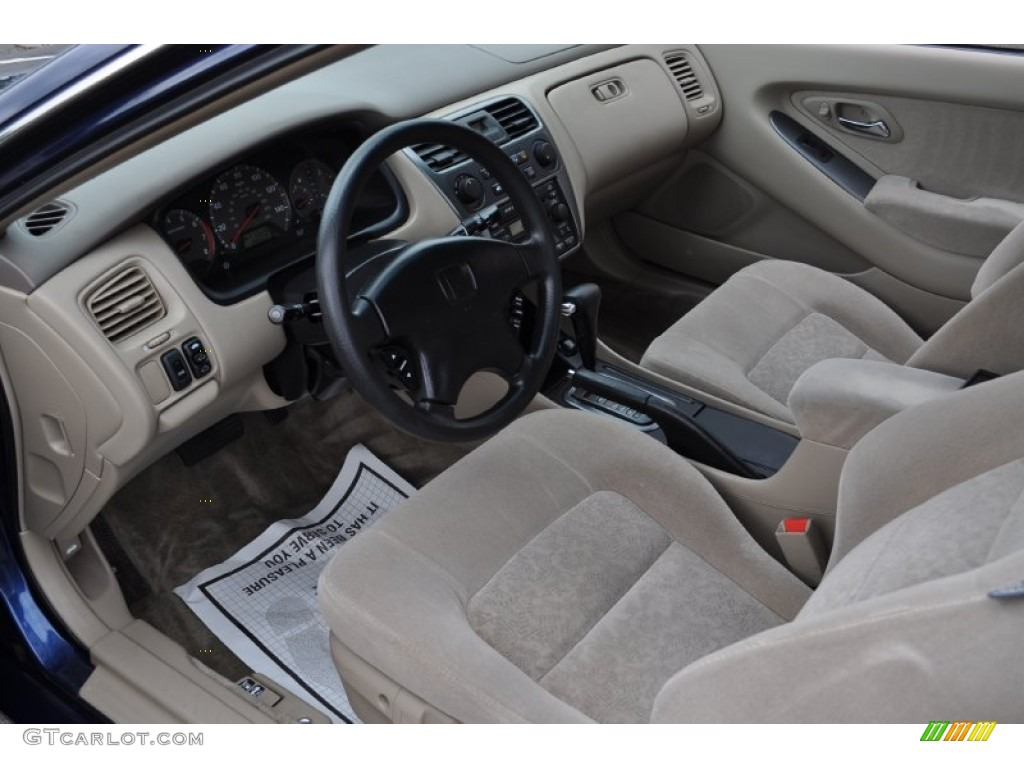 Ivory Interior 2002 Honda Accord EX Coupe Photo #53162843