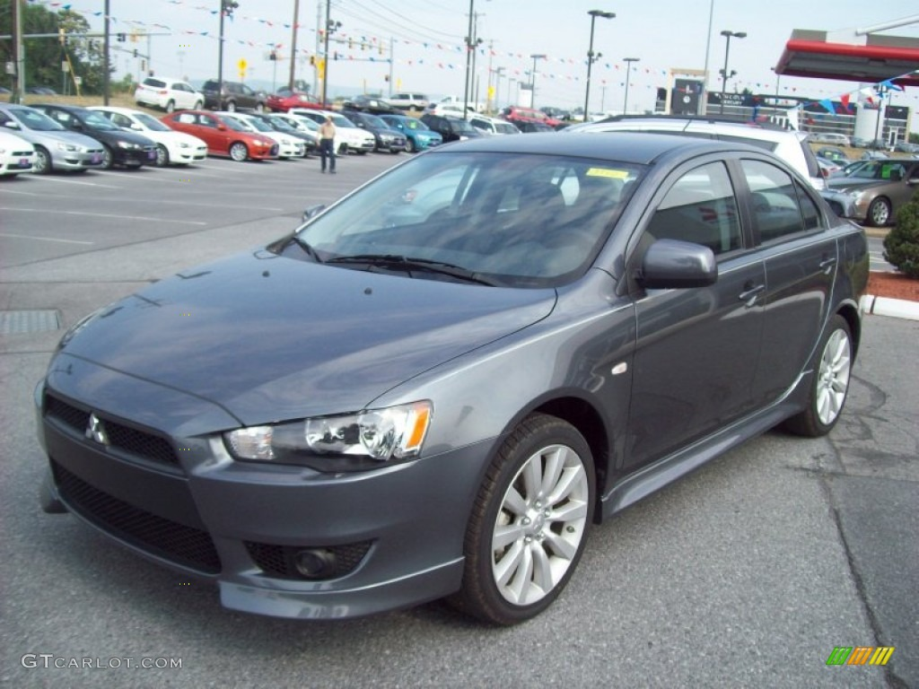 Charming 2011 Lancer GTS   Graphite Gray Pearl / Black Photo #1