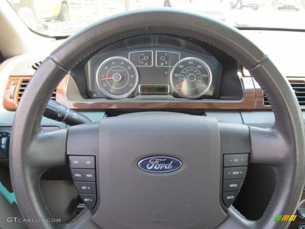 2008 ford taurus sel awd medium light stone steering wheel. Black Bedroom Furniture Sets. Home Design Ideas