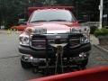 2009 Flame Red Dodge Ram 3500 SLT Quad Cab 4x4 Chassis Dump Truck  photo #3
