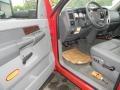 2009 Flame Red Dodge Ram 3500 SLT Quad Cab 4x4 Chassis Dump Truck  photo #14