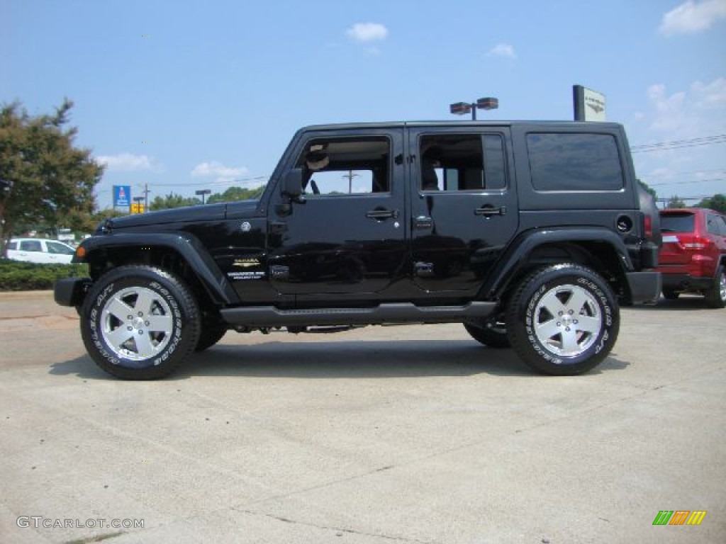 black 2012 jeep wrangler unlimited sahara 4x4 exterior photo 53194049. Black Bedroom Furniture Sets. Home Design Ideas