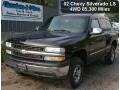 2002 Onyx Black Chevrolet Silverado 1500 LS Regular Cab 4x4  photo #1