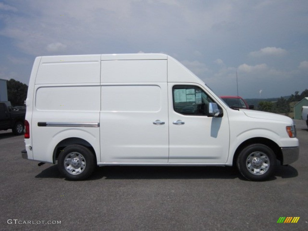 blizzard white 2012 nissan nv 2500 hd sv high roof exterior photo 53215067. Black Bedroom Furniture Sets. Home Design Ideas