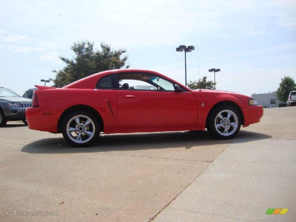 2000 Mustang V6 Coupe - Performance Red / Medium Parchment photo #6
