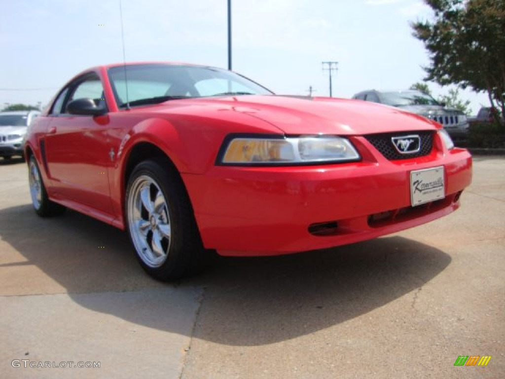 2000 Mustang V6 Coupe - Performance Red / Medium Parchment photo #7