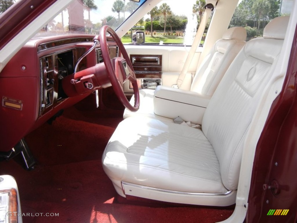 Red White Interior 1990 Cadillac Brougham D 39 Elegance Photo 53253298