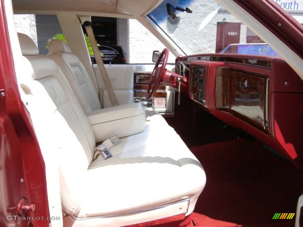 Red White Interior 1990 Cadillac Brougham D 39 Elegance Photo 53253409