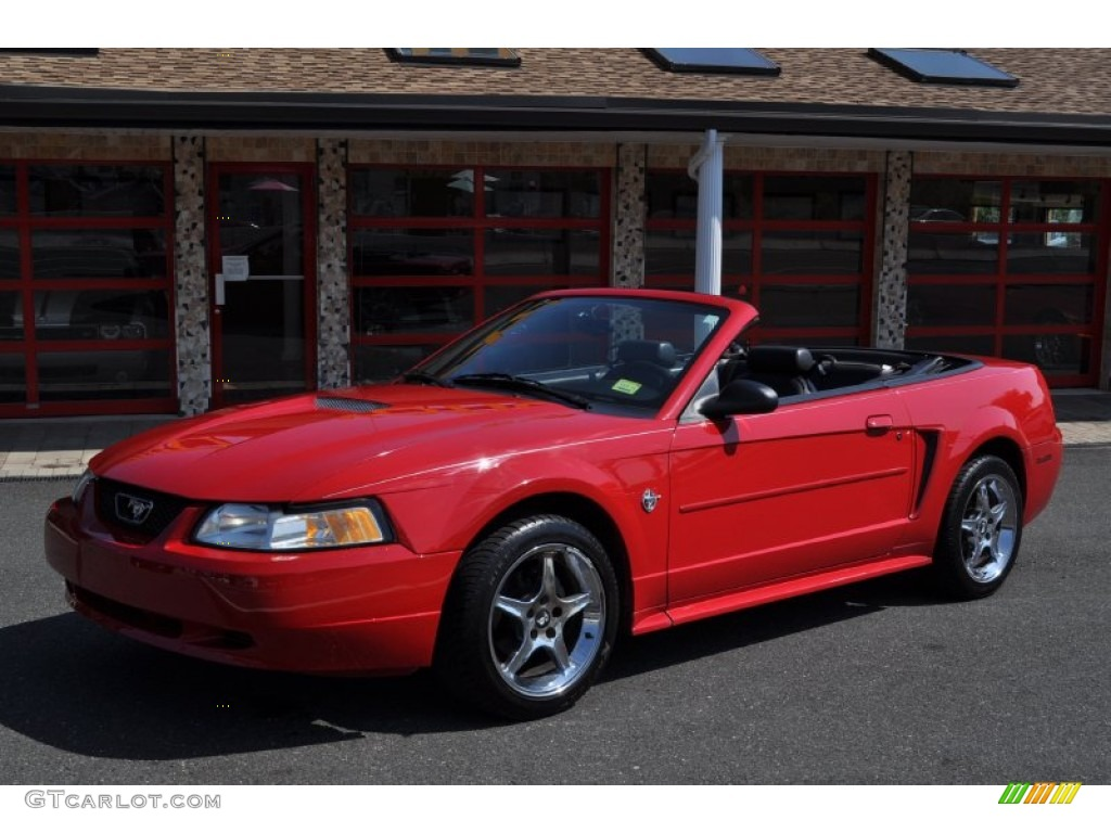 1999 laser red metallic ford mustang v6 convertible. Black Bedroom Furniture Sets. Home Design Ideas