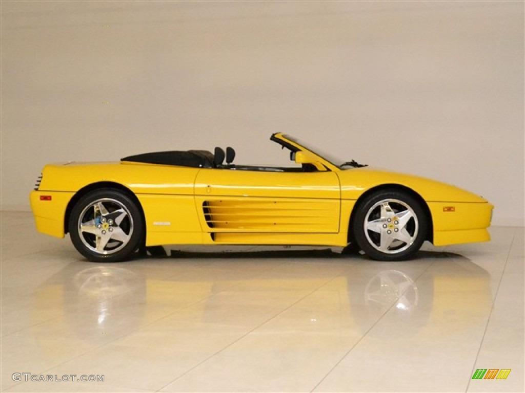 Yellow 1995 ferrari 348 spider exterior photo 53280762