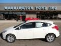 2012 White Platinum Tricoat Metallic Ford Focus SEL 5-Door  photo #1