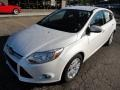 2012 White Platinum Tricoat Metallic Ford Focus SEL 5-Door  photo #8