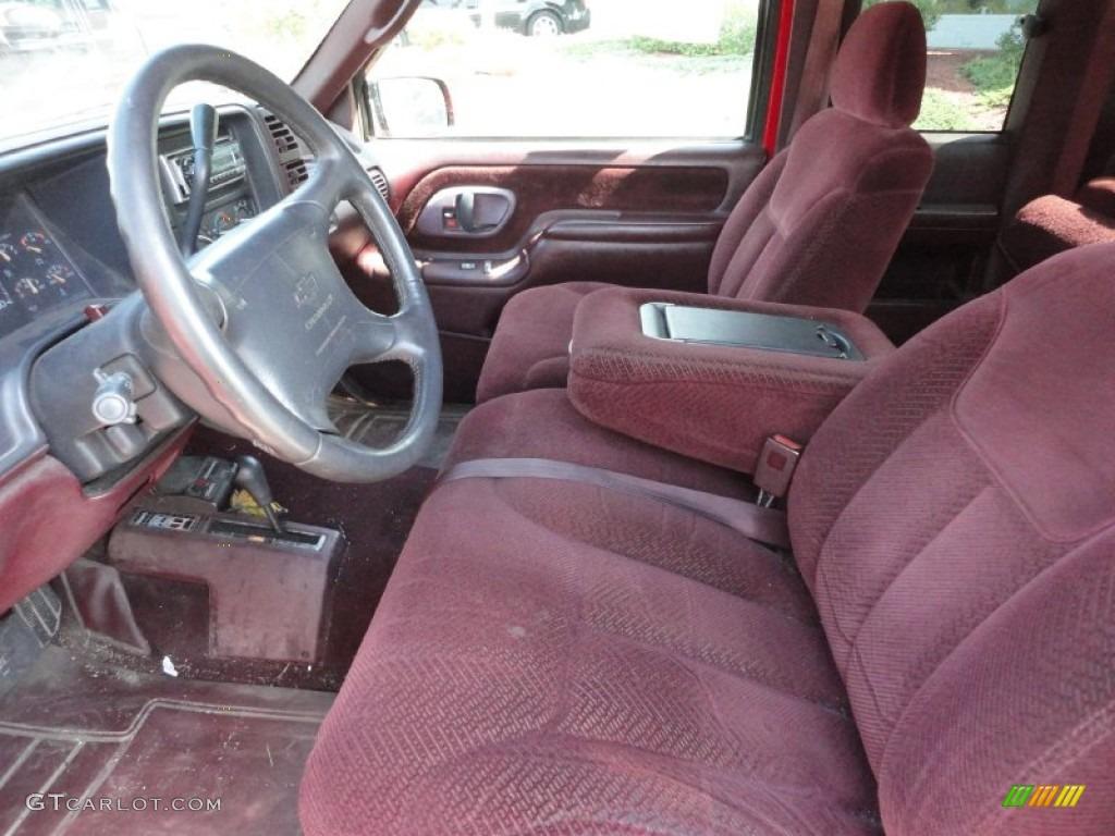red interior 1996 chevrolet c k k1500 extended cab 4x4. Black Bedroom Furniture Sets. Home Design Ideas