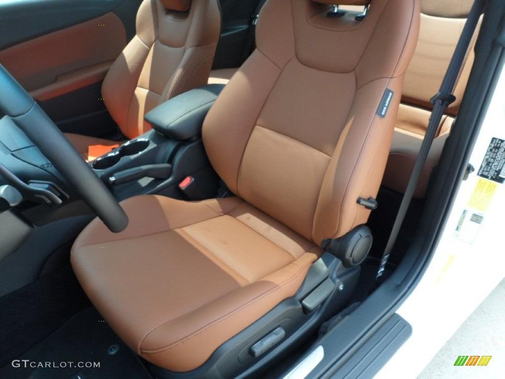 Brown Leather Interior 2012 Hyundai Genesis Coupe 3 8 Grand Touring Photo 53314239 Gtcarlot Com