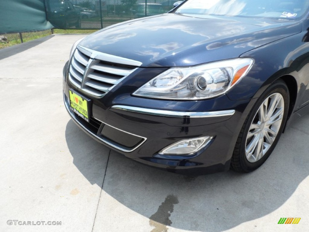 2012 twilight blue pearl hyundai genesis 3 8 sedan. Black Bedroom Furniture Sets. Home Design Ideas