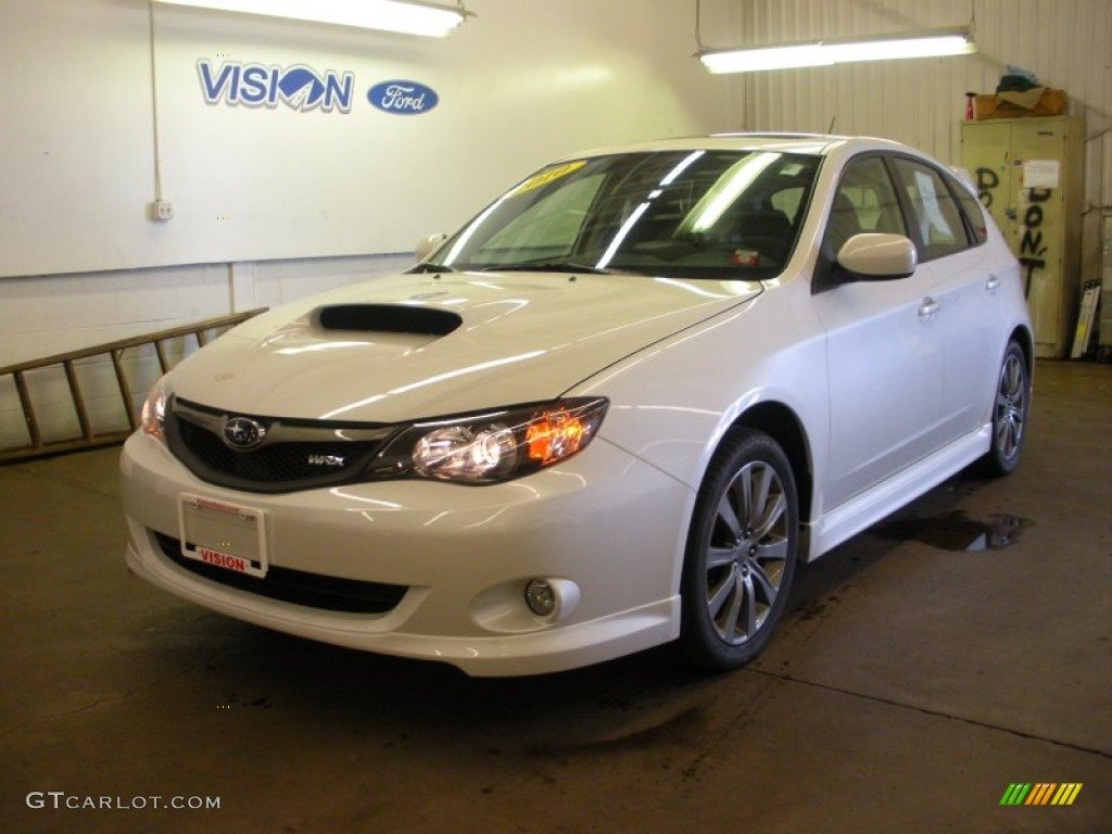 2010 satin white pearl subaru impreza wrx wagon 53280200. Black Bedroom Furniture Sets. Home Design Ideas