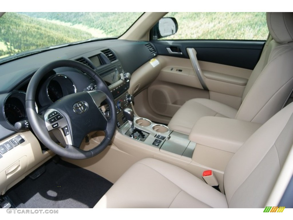 Sand Beige Interior 2012 Toyota Highlander Se 4wd Photo