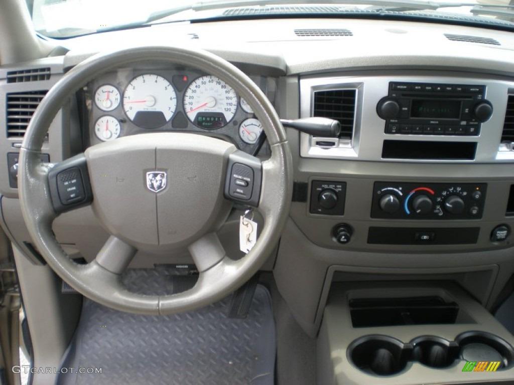 2008 Dodge Ram 1500 Horn Edition Quad Cab 4x4 Khaki Dashboard Photo 53341462