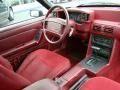 1993 Ford Mustang Red Interior Interior Photo