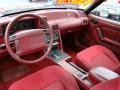 1993 Ford Mustang Red Interior Prime Interior Photo