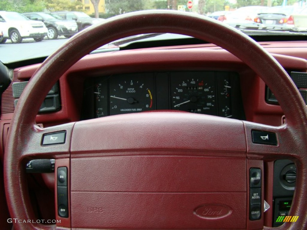 1993 Ford Mustang Lx Convertible Red Steering Wheel Photo