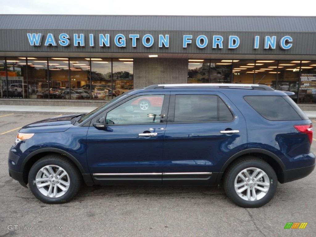 dark pearl blue metallic ford explorer ford explorer xlt ecoboost - Ford Explorer 2015 Xlt Black