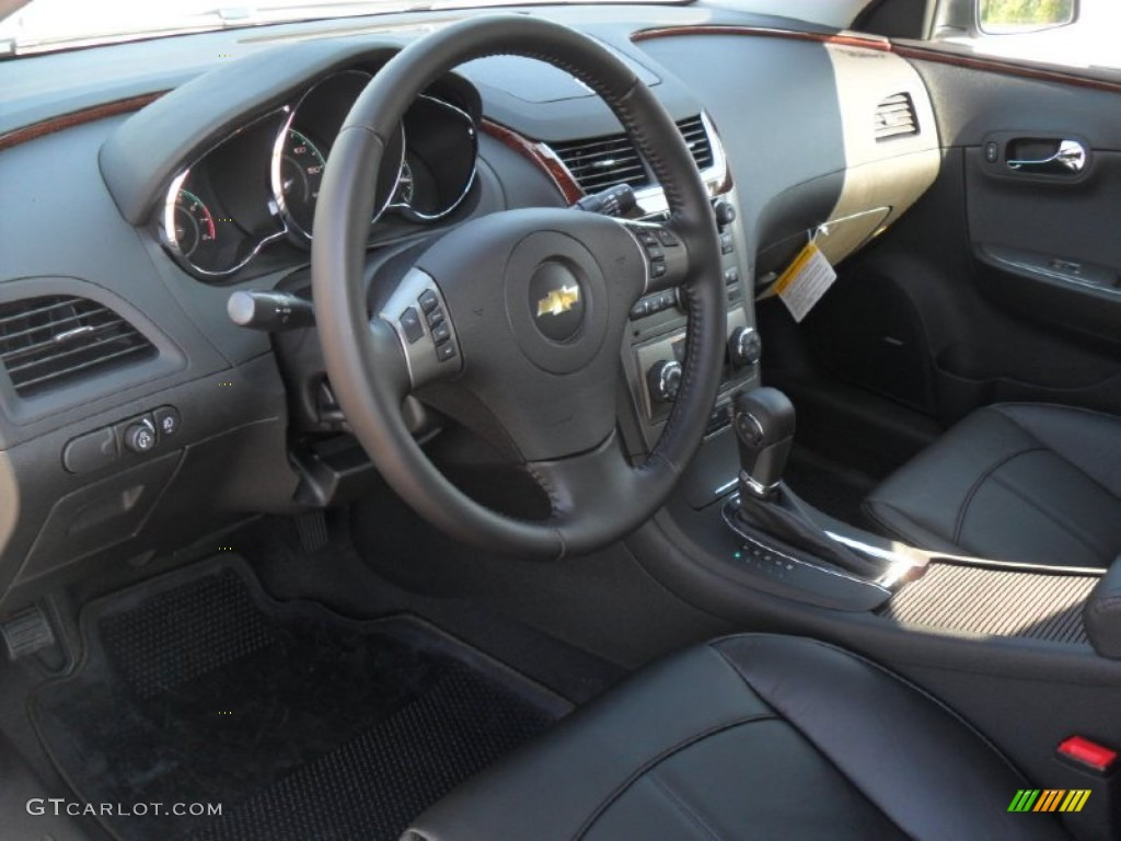 Ebony Interior 2012 Chevrolet Malibu Ltz Photo 53357065