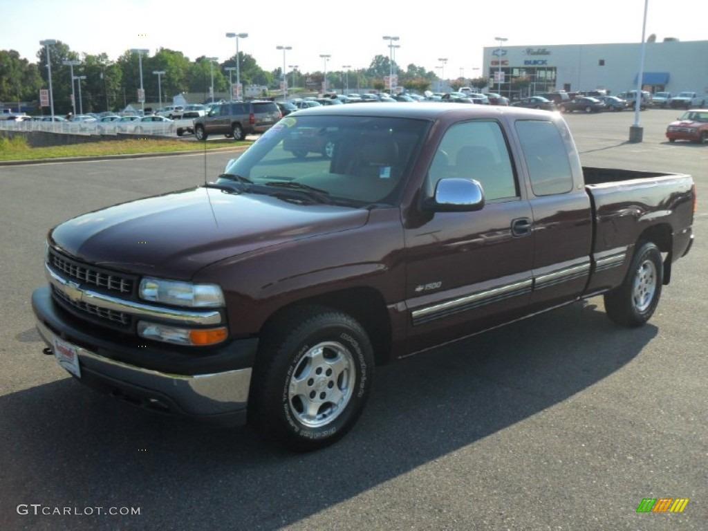 2000 Silverado 1500 LT Extended Cab - Dark Carmine Red Metallic / Medium Oak photo #1