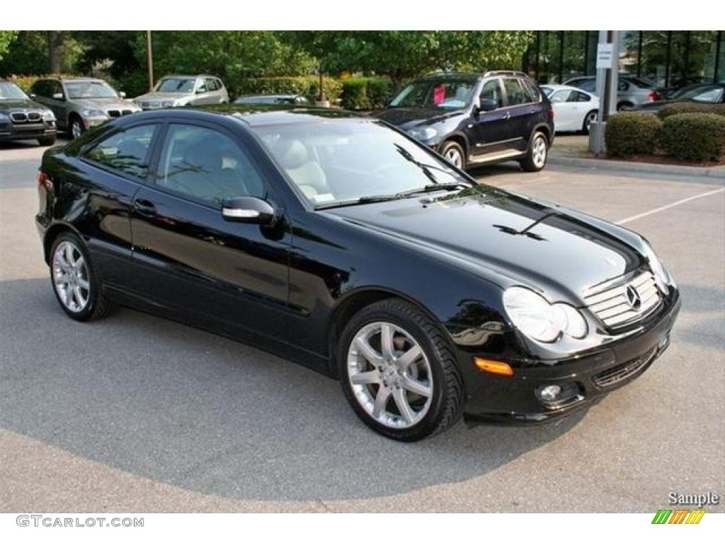 2005 black mercedes benz c 230 kompressor coupe 5325019 for Mercedes benz coupe 2005