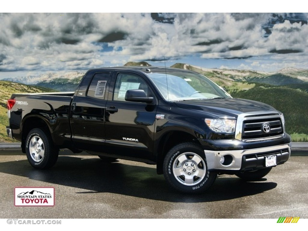 2011 black toyota tundra trd double cab 4x4 53364266 car color galleries. Black Bedroom Furniture Sets. Home Design Ideas