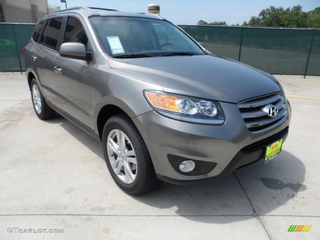 2012 Mineral Gray Hyundai Santa Fe Limited V6 53364419