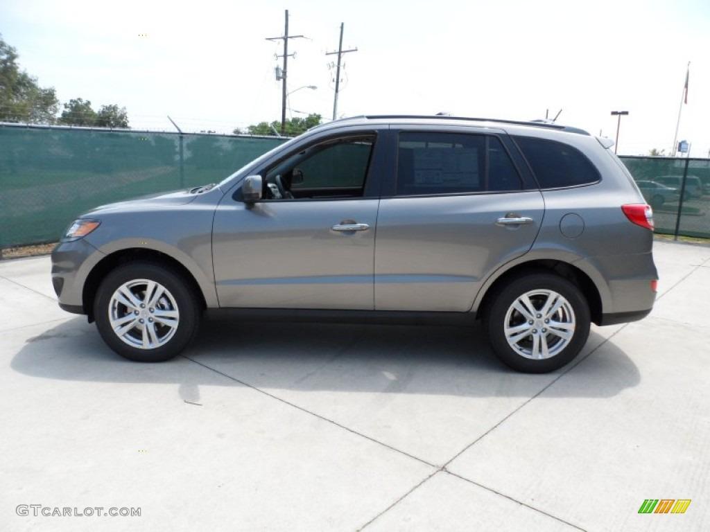Mineral Gray 2012 Hyundai Santa Fe Limited V6 Exterior Photo 53381621 Gtcarlot Com