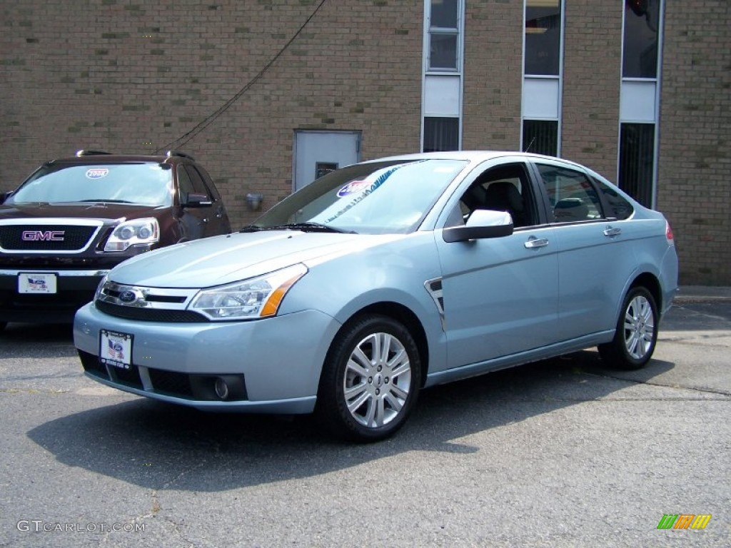 2009 light ice blue metallic ford focus sel sedan. Black Bedroom Furniture Sets. Home Design Ideas