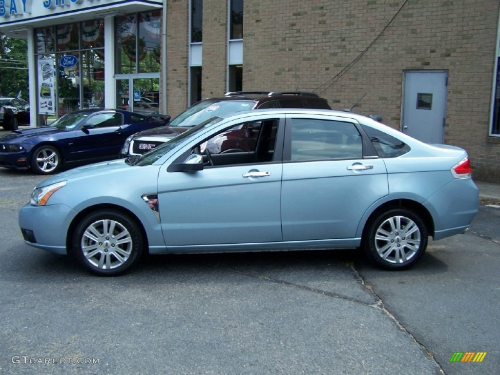 2009 light ice blue metallic ford focus sel sedan 53328058 photo 3 car color. Black Bedroom Furniture Sets. Home Design Ideas